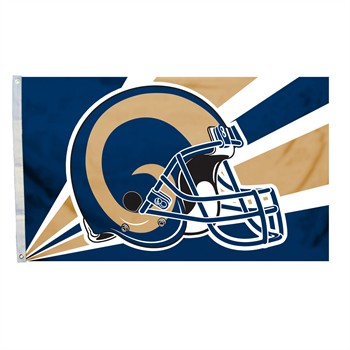 Los Angeles Rams Helmet 3' x 5' Flag