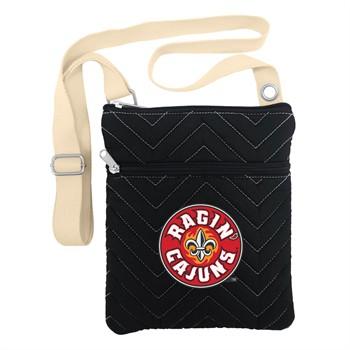 Louisiana Lafayette Ragin' Cajuns Chevron Stitch Crossbody Bag