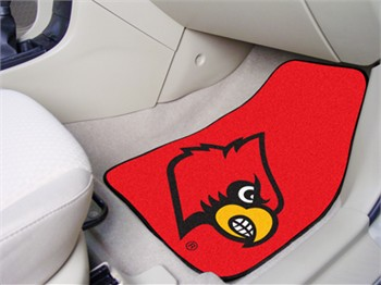 louisville cardinals 2 piece carpet car mats. Black Bedroom Furniture Sets. Home Design Ideas