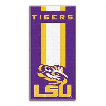 LSU Tigers Zone Read Beach Towel
