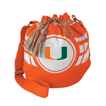 Miami Hurricanes Ripple Drawstring Bucket Bag