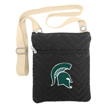 Michigan State Spartans Chevron Stitch Crossbody Bag
