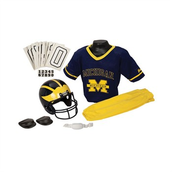 Michigan Wolverines NCAA Youth Helmet and Uniform Set by Franklin - Medium