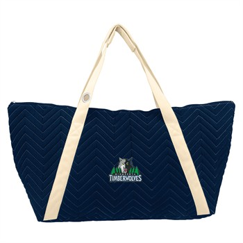 Minnesota Timberwolves Chevron Stitch Weekender Bag