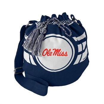 Mississippi Rebels Ripple Drawstring Bucket Bag