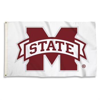 Mississippi State Bulldogs White 3' x 5' Flag