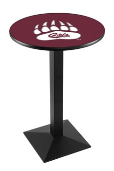 Montana Grizzlies Black Wrinkle Pub Table with Square Base