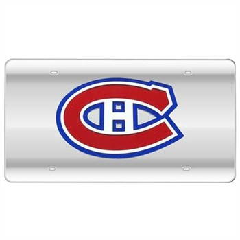 Montreal Canadiens Silver Laser License Plate