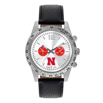 Nebraska Cornhuskers Men's Letterman Watch