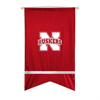 Nebraska Cornhuskers Sidelines Wall Flag