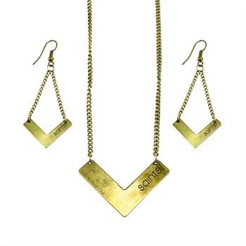 New Orleans Saints Chevron Jewelry Set