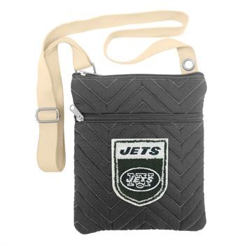New York Jets Crest Chevron Crossbody Bag