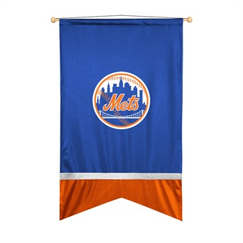New York Mets Sidelines Wall Flag