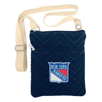 New York Rangers Chevron Stitch Crossbody Bag