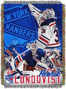 New york rangers lundqvist throw blanket
