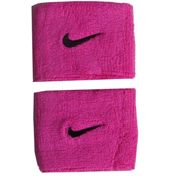 Nike Swoosh Wristbands - Pink / Black
