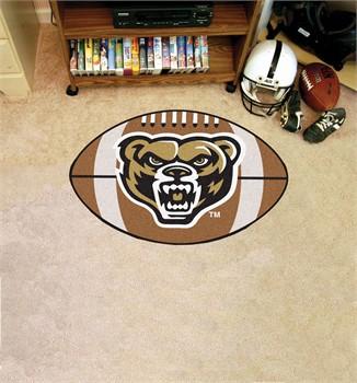 Oakland golden grizzlies football floor mat for Oakland flooring