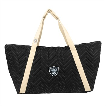 Oakland Raiders Chevron Stitch Weekender Bag