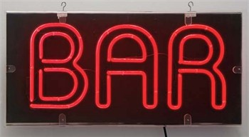 the Edge Bar Neon Sign #1: on the edge bar neon sign