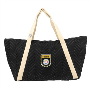 Pittsburgh Steelers Crest Chevron Weekender Bag