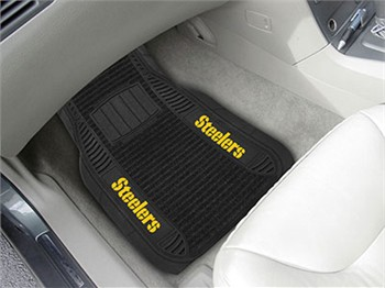 Pittsburgh Steelers Nfl Deluxe Car Floor Mat Set