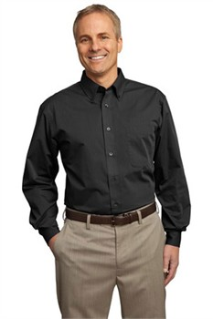 Port Authority Custom Men's Tonal Pattern Easy Care Button-Down Shirt