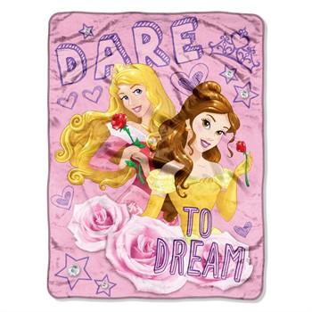 Princess Dare to Dream Micro Raschel Throw Blanket