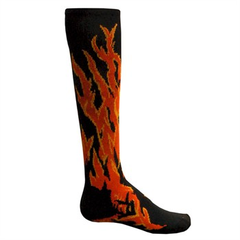Red Lion Flame Adult Socks - Sock Size 6-8.5