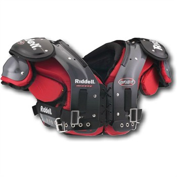 Riddell EVX 57 Adult Football Shoulder Pads - LB/FB/Linemen