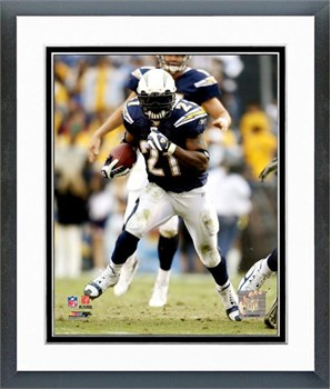 San Diego Chargers Ladainian Tomlinson 2007 Action Framed