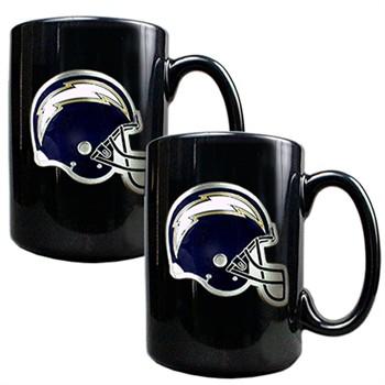 San Diego Chargers Nfl 2 Piece Ceramic Coffee Mug Set