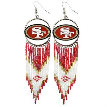 San Francisco 49ers Dreamcatcher Earrings