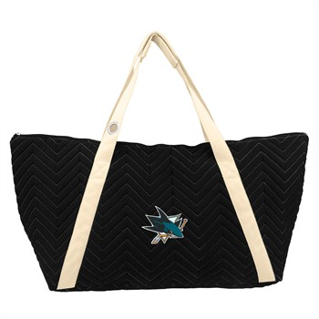San Jose Sharks Chevron Stitch Weekender Bag