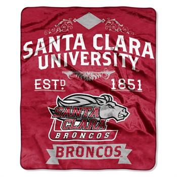 Santa Clara Broncos Label Raschel Throw Blanket
