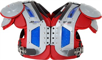 Schutt Custom Color AiR Maxx Flex Adult Football Shoulder Pads - All Purpose