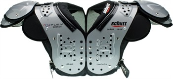 Schutt O2 Flex Adult Football Shoulder Pads - Quarterback / Wide Receiver