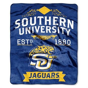 Southern Jaguars Label Raschel Throw Blanket