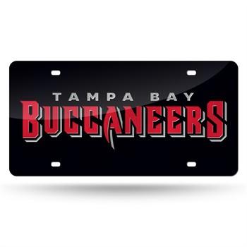 Tampa Bay Buccaneers Black Laser Cut License Plate