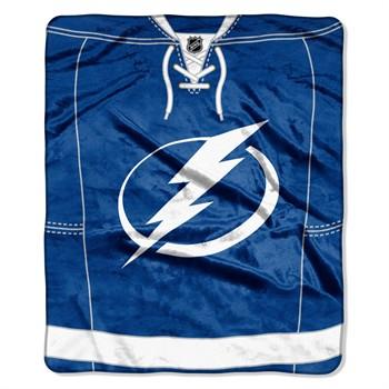Tampa Bay Lightning Jersey Raschel Throw Blanket