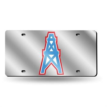 Tennessee Titans Retro Silver Laser License Plate