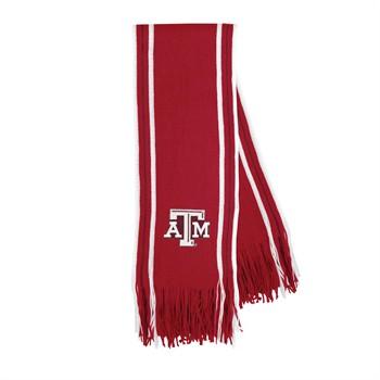 Texas A&M Aggies Stripe Fringe Scarf