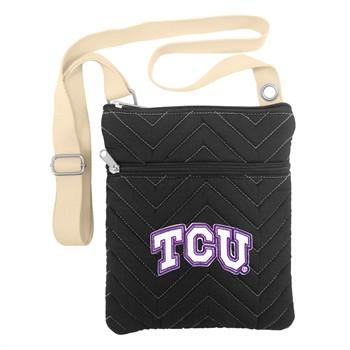 Texas Christian Horned Frogs Chevron Stitch Crossbody Bag