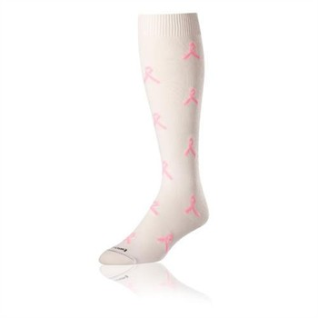 Twin City Breast Cancer Awareness Ribbon Over-Calf Socks