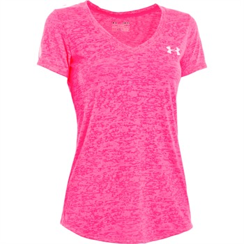 Under Armour Power In Pink Achieve Ribbon Women's V-Neck T-Shirt