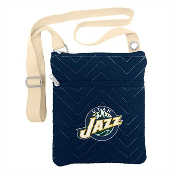 Utah Jazz Chevron Stitch Crossbody Bag