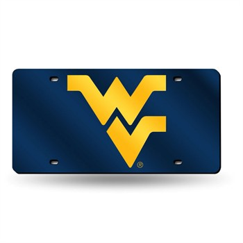 West Virginia Mountaineers Silver Laser License Plate