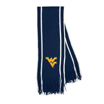 West Virginia Mountaineers Stripe Fringe Scarf