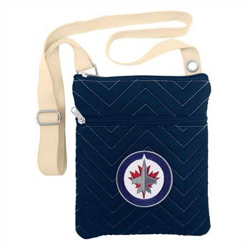 Winnipeg Jets Chevron Stitch Crossbody Bag