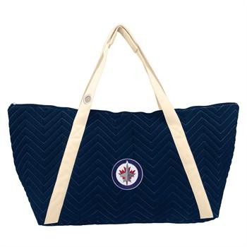 Winnipeg Jets Chevron Stitch Weekender Bag