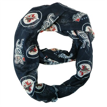 Winnipeg Jets Sheer Infinity Scarf